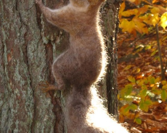 Needle felted grey squirrel woodland animal, made to order see descripion