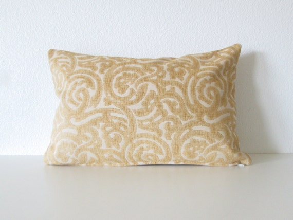 Decorative Pillow Cover 12x18 : Items similar to Decorative pillow cover - Lumbar pillow - 12x18 - Brunschwig & Fils - Yellow ...