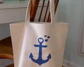 Anchor tote bag, beach bag, beach tote, future Mrs. tote, wedding tote, tote bag, wedding, bride to be, bridal bag, wedding gift, mrs. tote