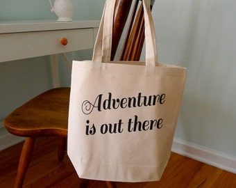 adventure is out there, adventure tote bag, tote bag, Up movie tote bag