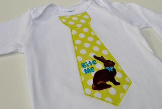 """Bite Me"" Tie Easter Bodysuit"