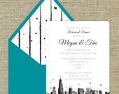 28 Chicago any occasion invitation with matching envelopes with return address printing