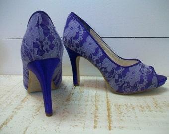 Lace wedding shoes blue – Top wedding USA blog