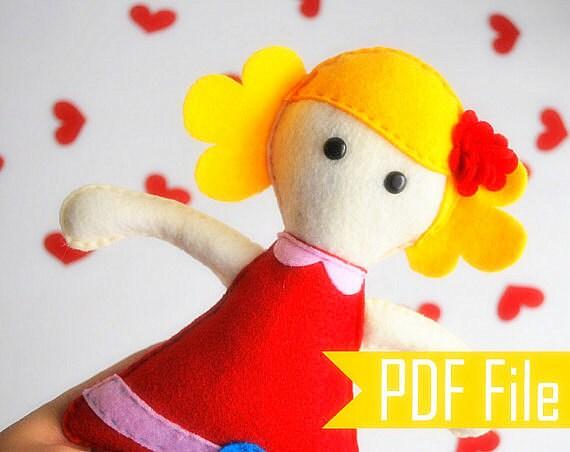 Doll Rag Pattern, Molly Rag Doll Sewing Pattern ,pdf Pattern, Diy ...