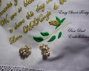 Finest Bridal Handkerchiefs, Keepsakes, Monogrammed, a hankie for all seasons. Embellishment and gift envelop included.