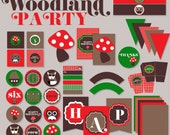 Woodland PRINTABLE Party Full Collection by Love The Day
