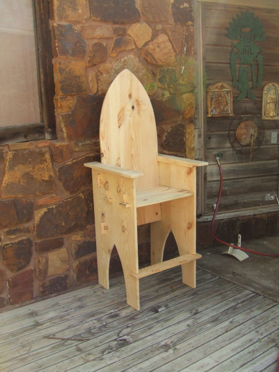 Break Down Custom Chair Bar Stool Medieval Sca Faire Wooden