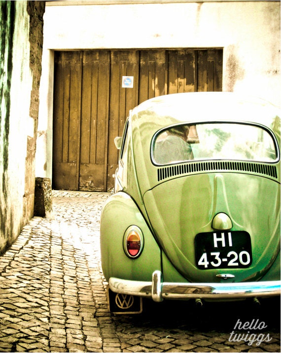Vintage style photography  Items similar to Olive Green Vintage Style Print, Car Photography ...
