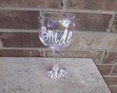 Personalized Bachelorette Jumbo Acrylic Wine Glass