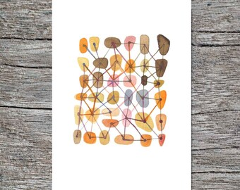 Nursery room decor, Sweet connections, Featured in West Elm, watercolor painting, watercolor print