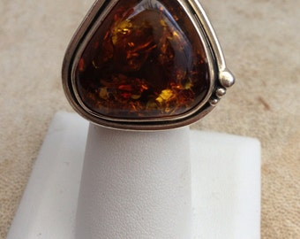 Statement Baltic Amber Ring