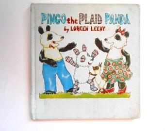Pingo the Plaid Panda, a Vintage Children's Book