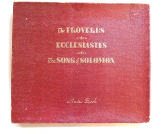 Vintage Audio Book, The Proverbs, Ecclesiastes, The Song of Solomon, 1953