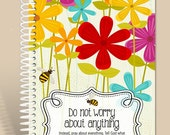 Personalized Notebook / Spring is in the Air - Philippians 4:6 / Prayer Journal/