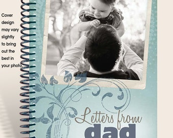 Father's Journal Personalized with PHOTO and DEDICATION Page