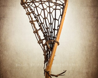 Vintage Lacrosse Stick Upright No.2  Photo Print, Decorating Ideas, Wall Decor, Wall Art,  Sports Decor, Vintage La
