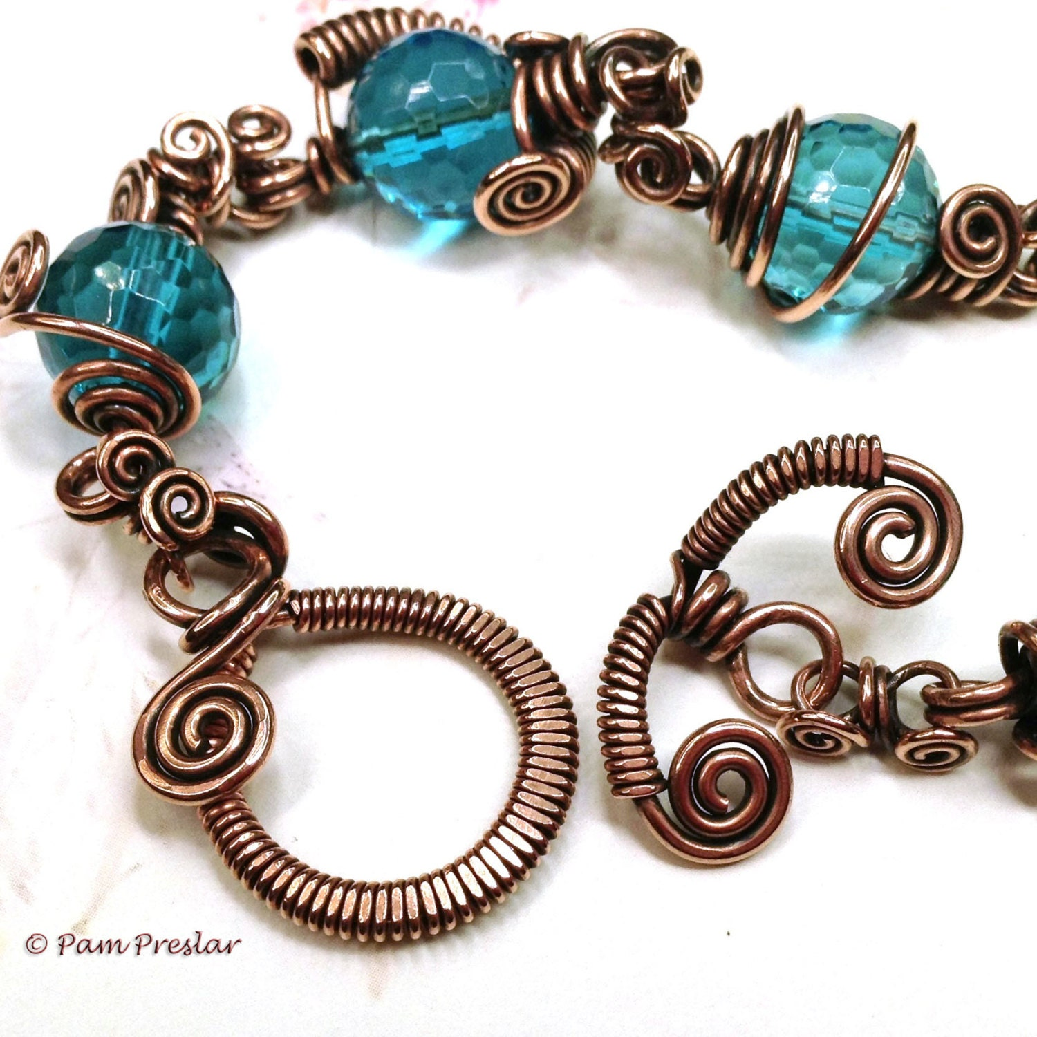 TUTORIAL Wrapped Toggle Clasp Wire Jewelry Making Tutorial