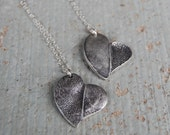 Custom Paw Pad and Fingerprint Necklace - Sterling Silver Puppy Love Asymmetrical Heart