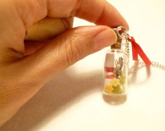 Gifts for foodies, Cristal vial, Miniature charm, Miniature food, Vial, Gourmet gifts, Fake food, Handmade by Marumadrid