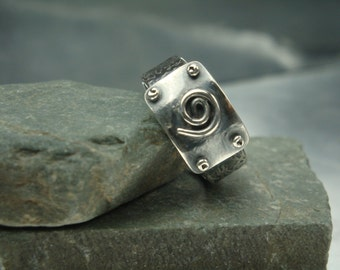 Spiral of Life Fine Silver Ring - PMC - 999 Silver Ring