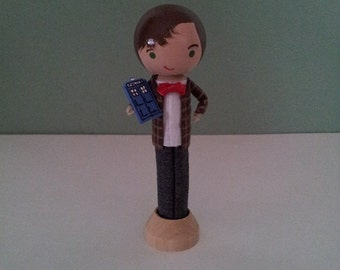 Doctor Who Clothespin Doll -  MADE TO ORDER