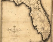 Antique Florida Map 1894-1895