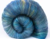 MOONSTRUCK MOIRA - Blue Polwarth/Merino/Silk Batts - Spinning Fiber - 3.25oz