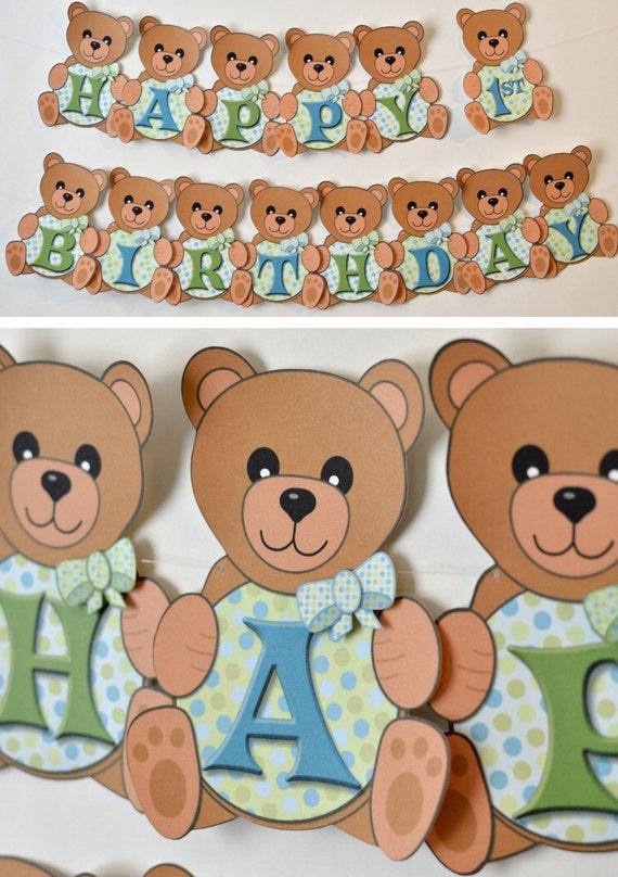 Boy Teddy Bear Birthday Party Teddy Bear Baby Shower