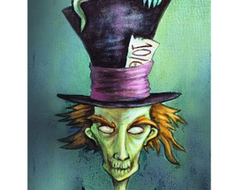 Gothic Mad Hatter from Alice in Wonderland Stories and Dark Fairytales--Fantasy Art Print