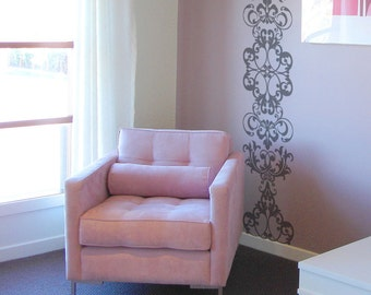 Large Wall Decals Etsy - Custom vinyl wall decals damask