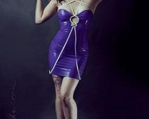 Latex Rubber Silhouette Dress