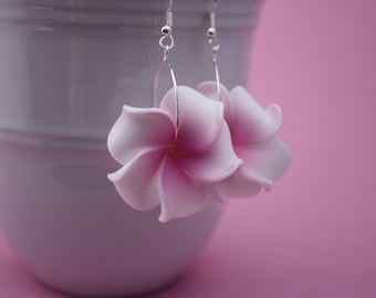 Flower Earrings Plumeria, Frangipani Floral Earrings, Hawaii Jewelry Hawaiian Jewelry Tropical Flower Flower Jewelry Floral Jewelry Maui 117