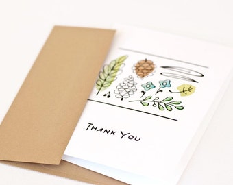 Thank You Card, Botanical Card, Nature // GOOD THINGS