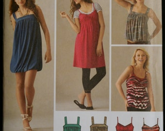 Simplicity 3882 Misses Set of Dresses or Tops Sewing Pattern Sz 4 to 12