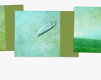 "3 Postcards ""Nostalgic Spring"""