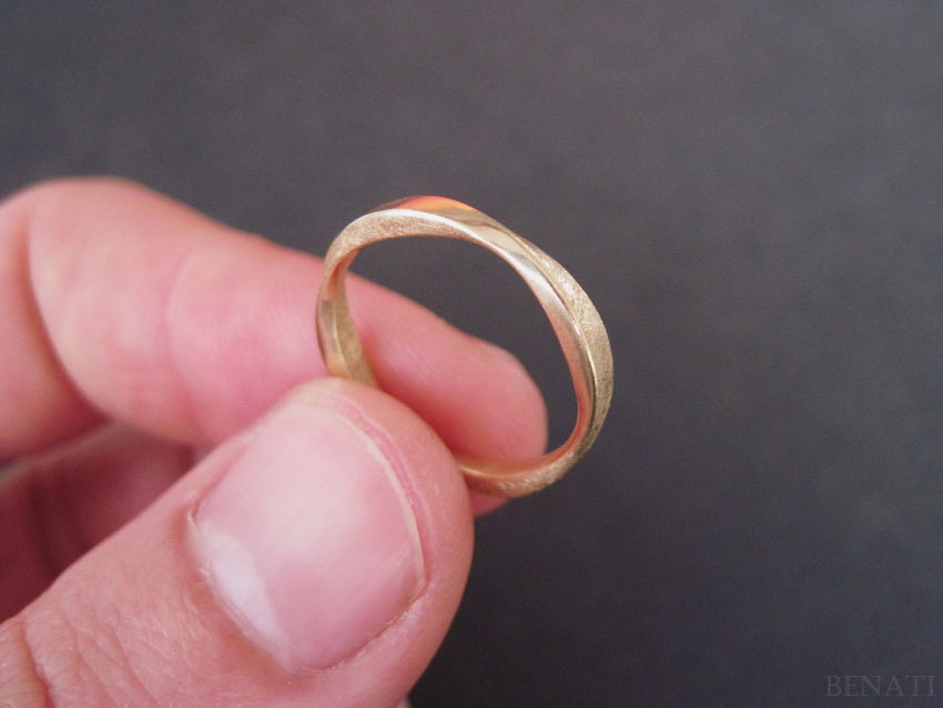 Wedding Mobius Ring In 14k Gold Modern Amp Contemporary Gold
