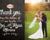 Blackboard Wedding Thank You Card Design
