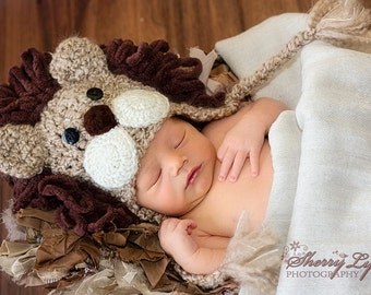 Baby Hat - Lion Hat - Baby Costume Hat -  Baby Hats - Halloween Costume - Baby Lion Costume Hat - by JoJosBootique