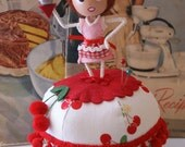 Cherry Pie Ball Pincushion