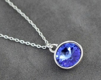 Sapphire Necklace, September Birthstone Necklace, Blue Sapphire Jewelry, September Birthstone Jewelry