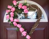 SALE - Valentine's Day Wreath - Pink Romance