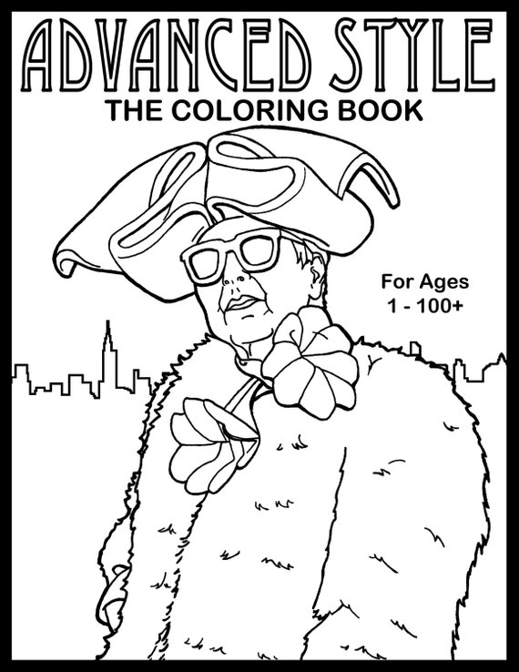 Advanced Style: The Coloring Book, Illustrations of Stylish Seniors
