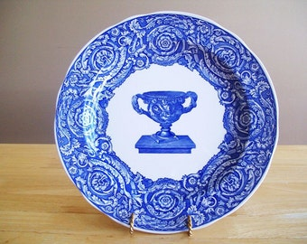 Spode Blue Room Collection//Warwick Vase Plate//Transferware