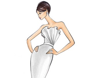Kate-Bridal Fashion Illustration-by Brooke Hagel