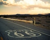 Route 66 Road Trip Landscape - California Desert - Route 66 Wall Art - Road Trip Inspired - Painted Highway - Fine Art Photography