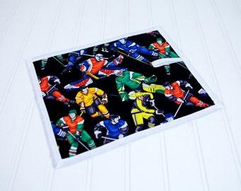 Hockey Chalkboard Mat Reusable Art Toy Travel Quiet Boy Toy
