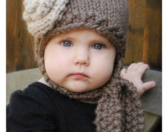 Knitting PATTERN-The Shyla Cap (12/18 months, Toddler, Child and Adult sizes)