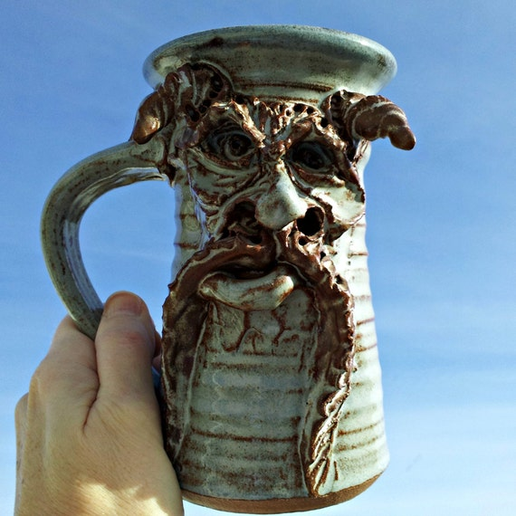 That S One Scary Dude Mug Vintage Pottery Monster