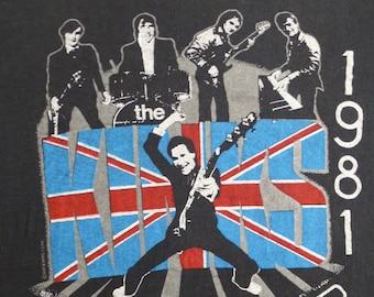 KINKS original vintage 1981 tour TSHIRT