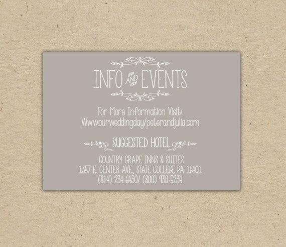 Printable Wedding Invitation Inserts Matik For
